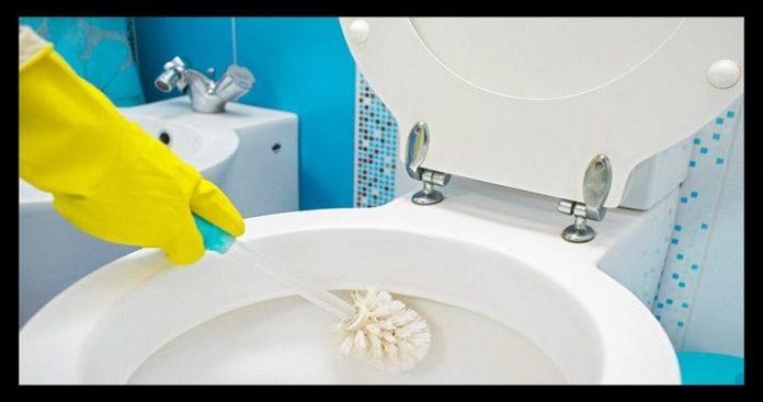 como limpiar un inodoro